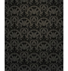 Seamless pattern black vector image vector image