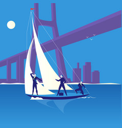 business regatta concept in vector image vector image