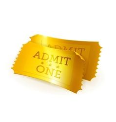 Golden tickets vector image vector image