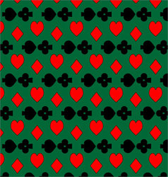 Pattern card suits vector image vector image