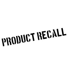 Product recall black rubber stamp on white vector image vector image