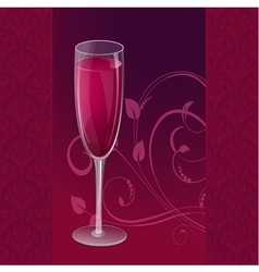 design glass wine vector image vector image