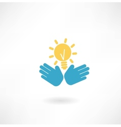 hand with the idea of an icon vector image vector image