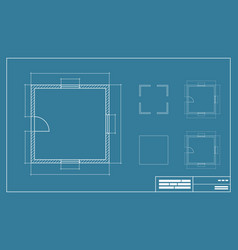 blue print vector image