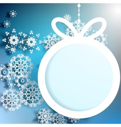 Christmas ball cutted from paper EPS 10 vector image