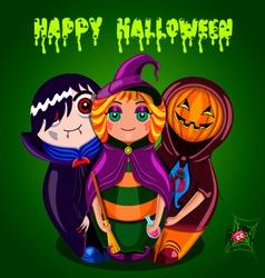 Happy Halloween dolls vector image