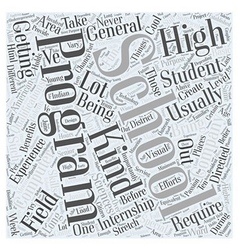High school internships for computer sciences word vector