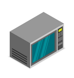 isometric microwave icon in flat style vector image vector image