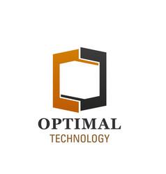 logo for optimal technology company vector image