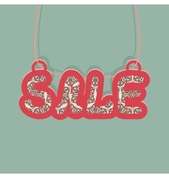 Vintage message for Christmas sale vector image