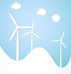 windmills alternative energy vector image