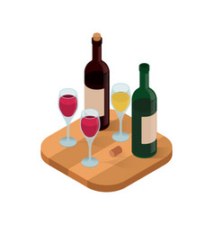 wine tasting isometric vector image vector image