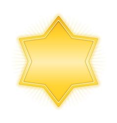 Yellow Star vector image vector image