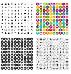 100 amusement icons set variant vector