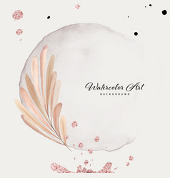 Abstract background watercolor leaves with pink vector