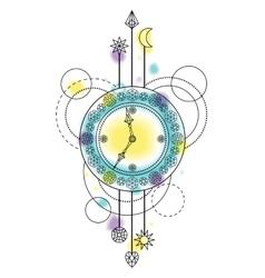 Abstract Clock Symbol vector image