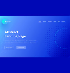 Abstract geometric circle line shape landing page vector