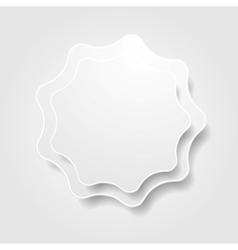 Abstract grey wavy shape design vector