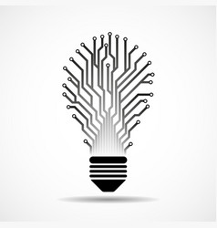 abstract lamp with circuit board technology light vector image