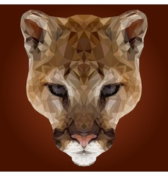 Abstract Low Poly Puma Design vector