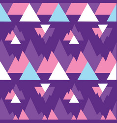 abstract purple mountains triangles print pattern vector image