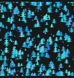 abstract stylized chaotic pine tree background vector image