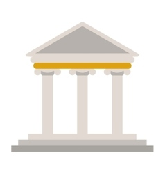 Ancient greek building icon vector