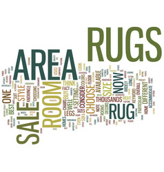 Area rugs for sale text background word cloud vector