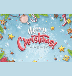Background merry christmas vector