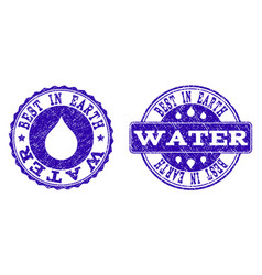best in earth water grunge stamp seals vector image