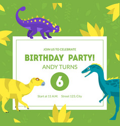 birthday party invitation card template banner vector image