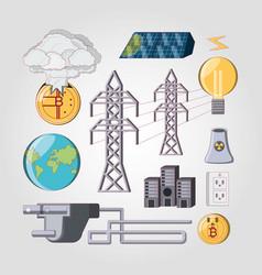 Bitcoin energy consumption design vector