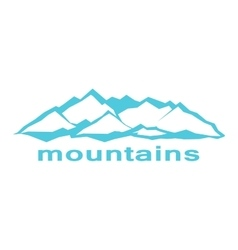 Blue mountains A symbolic image vector
