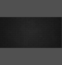 brick wall background black gray grunge vector image