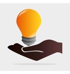 Bulb or big ideas vector