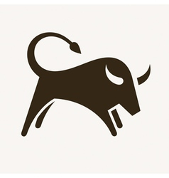 Bull silhouette vector