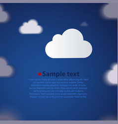 Cloud background in different focus vector