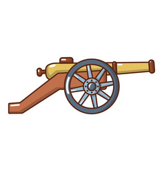 Coastal cannon icon cartoon style vector