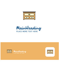 creative cupboard logo design flat color logo vector image