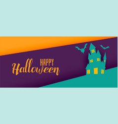 creative halloween holiday banner design vector image