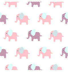 cute elephant cartoon pattern vector image