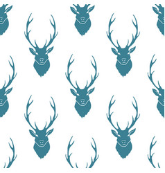 Deer silhouette seamless pattern vector
