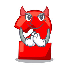 devil cartoon cake birthday candle number two vector image