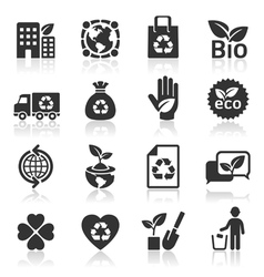 Ecology icons set4 vector image
