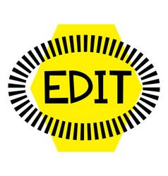 Edit stamp on white vector