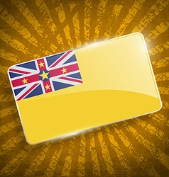 Flag niue with old texture vector