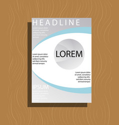 Flyer design template - brochure - annual report vector