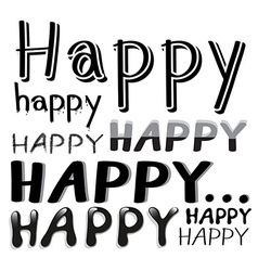 Font Happy vector