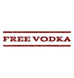 Free Vodka Watermark Stamp vector image