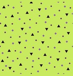 Geometric pattern with triangles circles rhombs vector